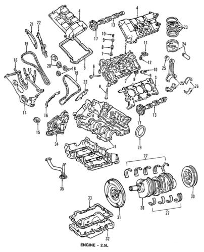 Ford Escape 2 5l I4 Engine