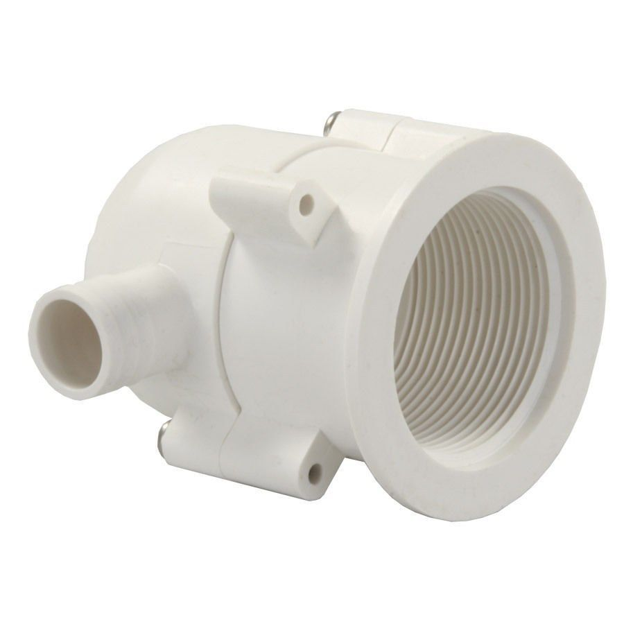 JR Products 95195 White Exterior Evacuation Drain Trap - 1pk*