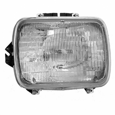 DRIVER SIDE HEADLIGHT SEALED BEAM; INCLUDES LAMP/BUCKET AND CHROME