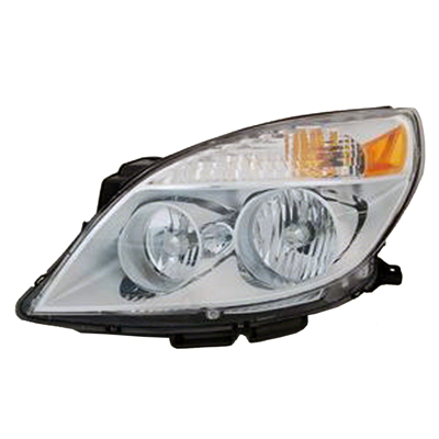 DRIVER SIDE HEAD LIGHT ASSEMBLY; WITH BULB SHIELD FOR HIGH BEAM;