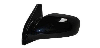 DRIVER SIDE POWER DOOR MIRROR; NON-FOLDAWAY STYLE; GLOSS BLACK PAINT