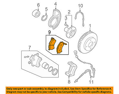MAZDA OEM 01-06 Tribute Brake-Pads EC253323ZD