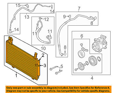 MAZDA OEM 14-15 6 Air Conditioner A/C AC-Condenser GHR161480B