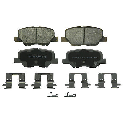 Disc Brake Pad Set-ThermoQuiet Disc Brake Pad Rear WAGNER QC1679